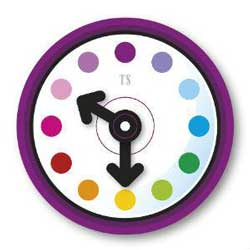 coloured clock