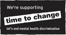 We're supporting time to change. Let's end mental health discrimination