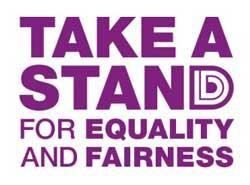 Take a stand for equality and fairness