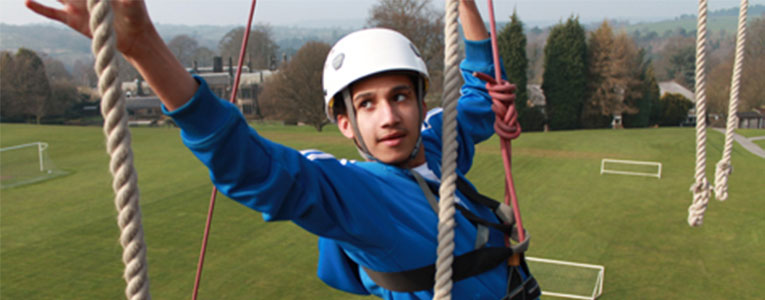 rope climbing at Lea Green