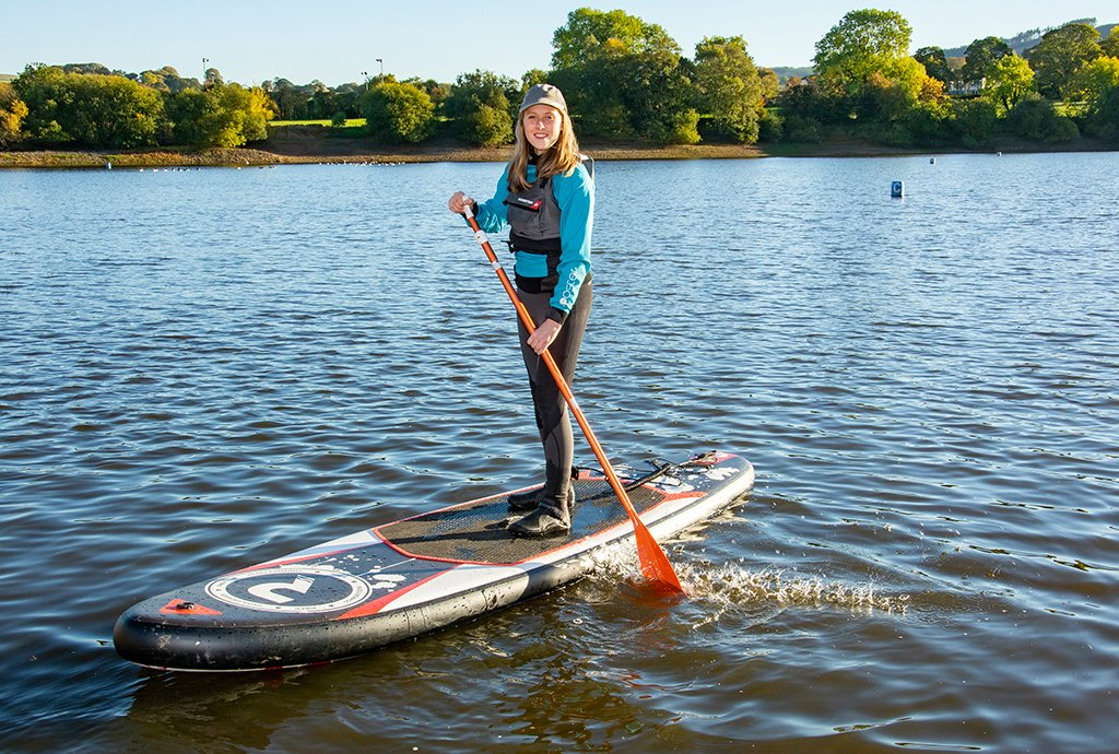Woman on a paddle board
