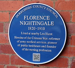 Florence Nightingale's blue plaque