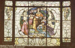 Stained Glass Window Long Eaton Library 1906