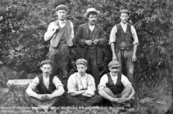 Group of builders from Dronfield 1900s