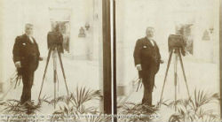 Stereoscopic picture taken in the Winter Gardens Matlock 1900