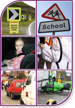 Road safety montage